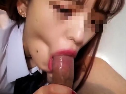 Petite Asian gives a blowjob in POV