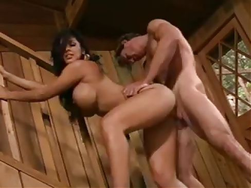 Busty Latina MILF has a friend over to fuck her in her house