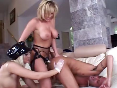 Nasty bi-sexual action, get ready for some wild strap-on action