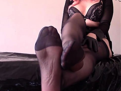 Mistress in stockings gives you orders