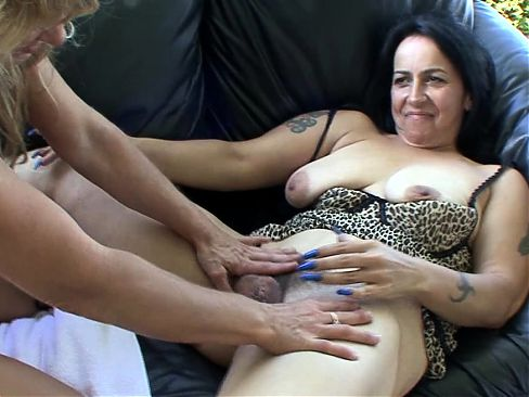 Two pretty lesbian babes are being naughty together